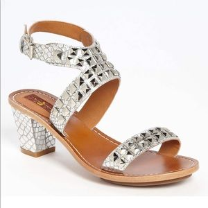 7 FOR ALL MANKIND Strella Studded Snake Sandals 9